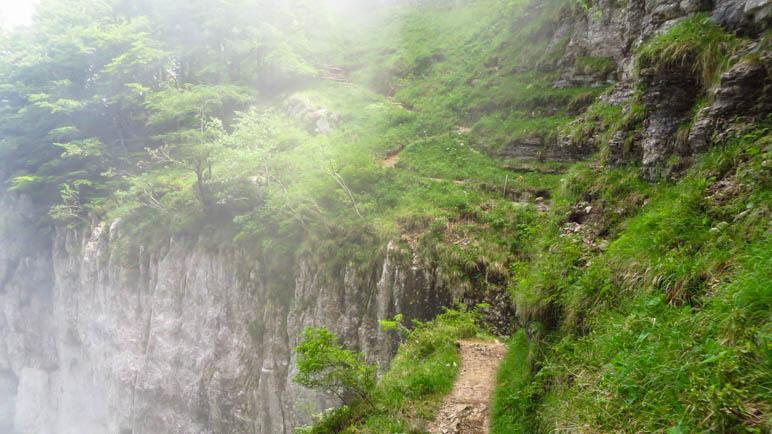 Der Sentiero del Ventrar am Monte Baldo, ein spektakulärer Wanderweg