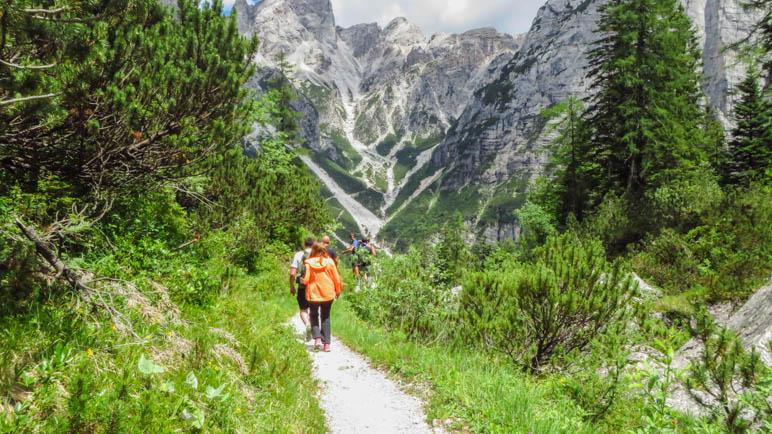 Abstieg vom Rifugio Selvata