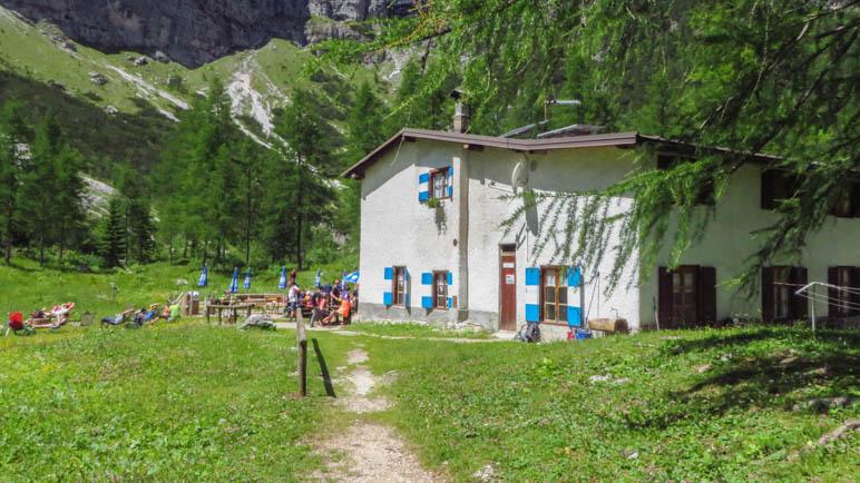 Das Rifugio Selvata auf gut 1630 Metern Höhe