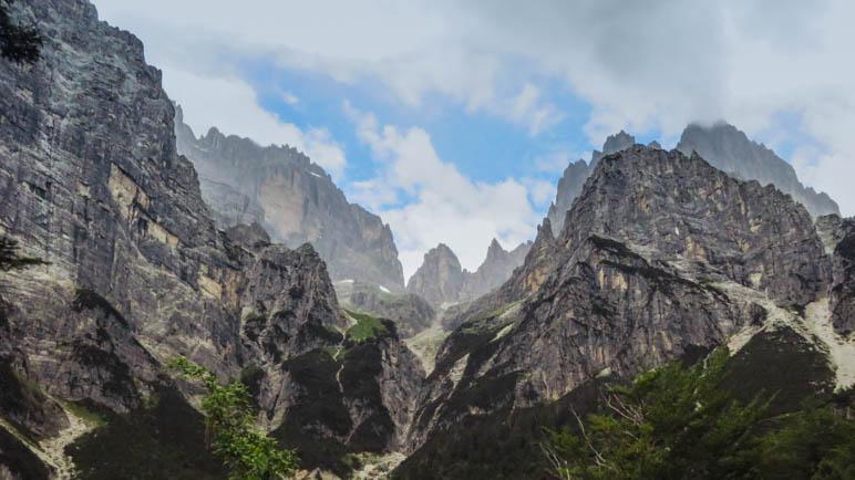 Ein Blick zurück ins Valle delle Seghe