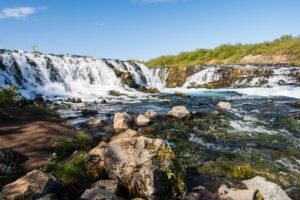 Hoch ist der Brúarfoss nicht, aber er ist ein wirklich schöner Wasserfall