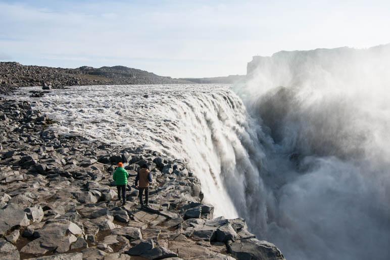 Einer der mächtigsten Wasserfälle Islands, der Dettifoss