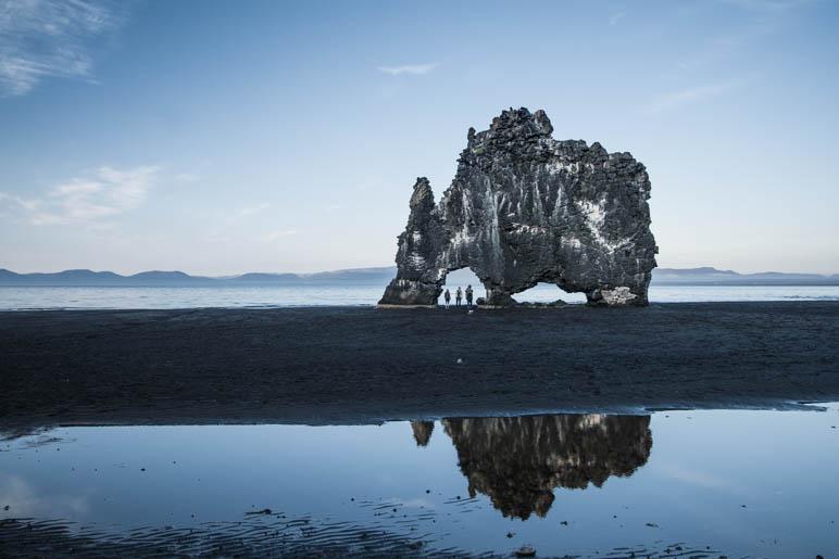Der Hvítserkur, ein Felsen, den ich mir ganz anders vorgestellt hatte