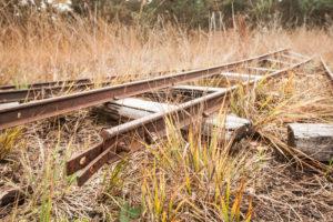 Schienen der Moorbahn