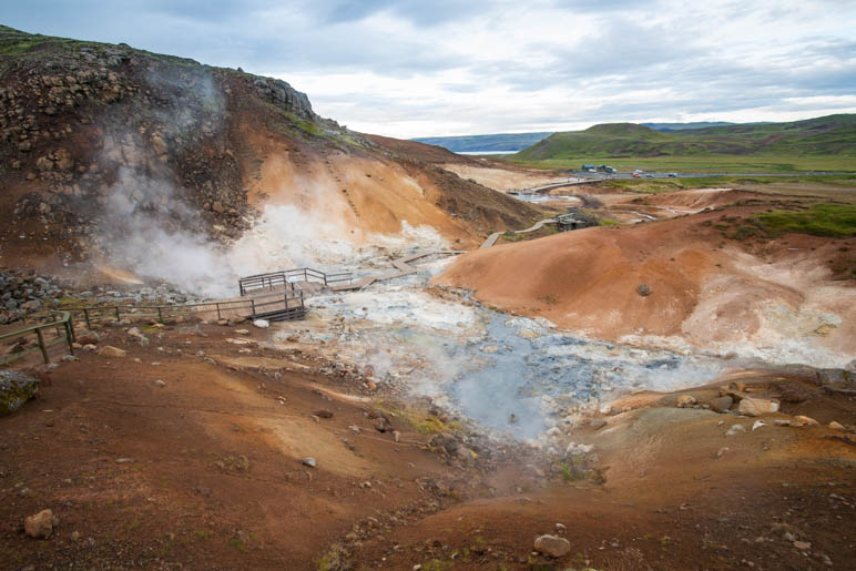 Das Geothermalgebiet Seltún auf der Halbinsel Reykjanes. Es riecht etwas streng dort