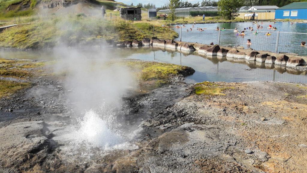 Jetzt zeigt er, was er kann: Eine Eruption des Litli Geysir