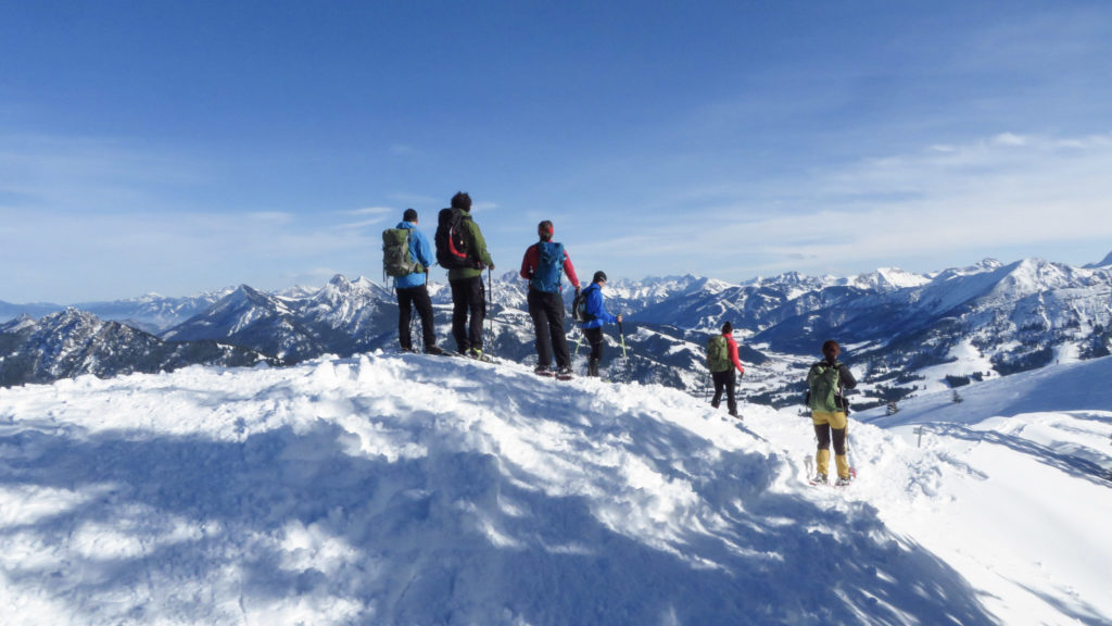 Winterliches Bergerlebnis Allgäuer Alpen. Hier auf dem Wertacher Hörnle