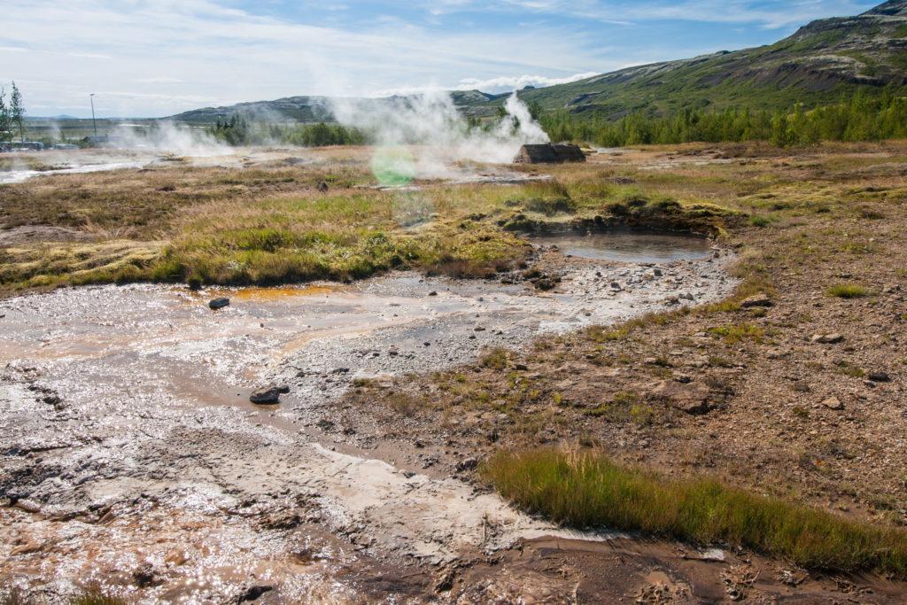 Extreme Landchaft im Gebiet des Geysir