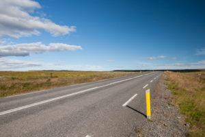 Die Straße zwischen Geysir und Gullfoss