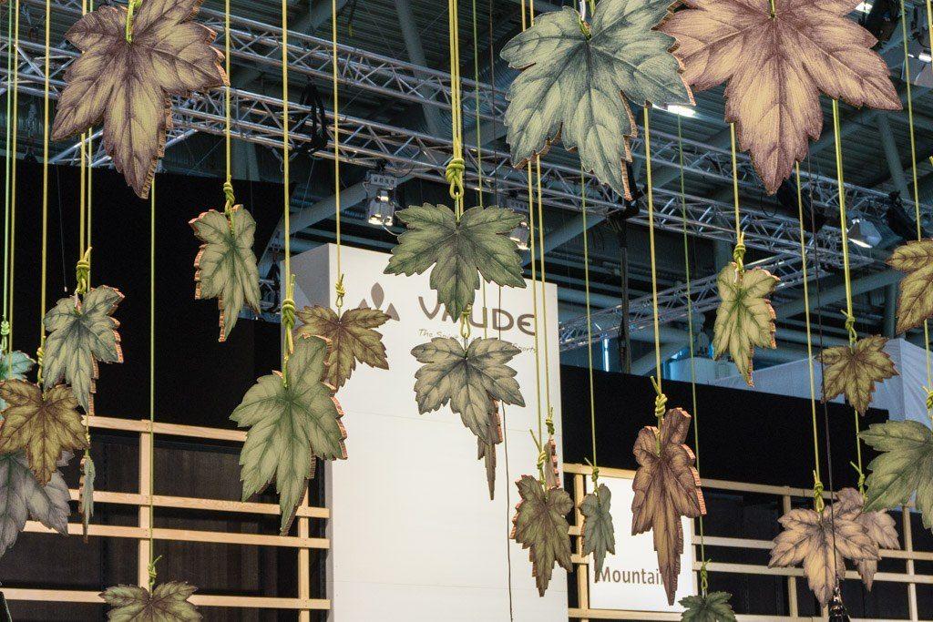 Der Vaude-Stand ganz im Design der neuen Core Collection
