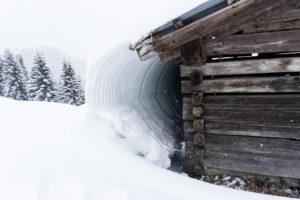 Wellblech-Schneewelle