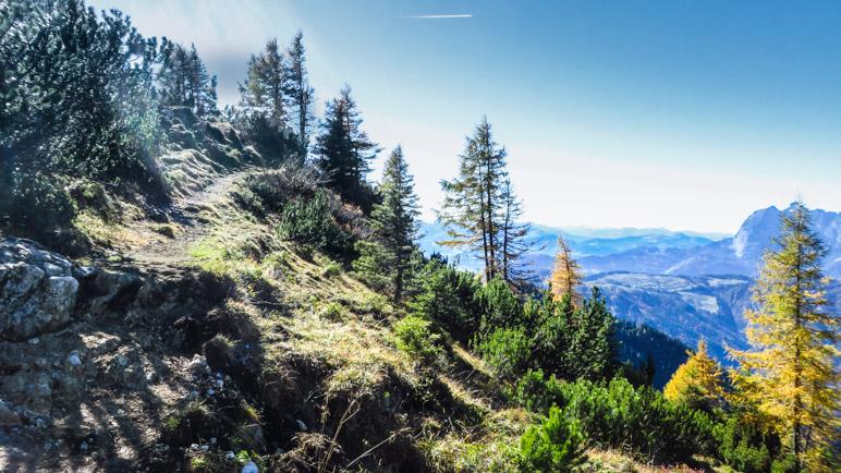 Auf dem Aufstiegsweg zum Fellhorn-Gipfel