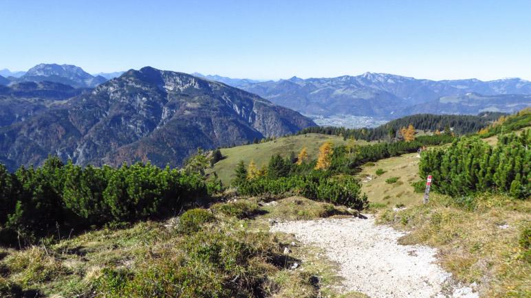 Blick vom Fellhorn auf den Unterberg bei Kössen