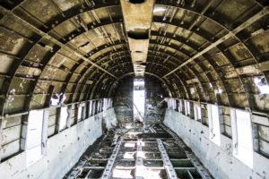 Die Kabine des Flugzeugs