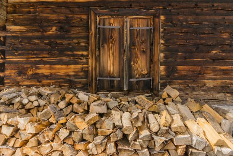 Holz haben sie an der Huberalm