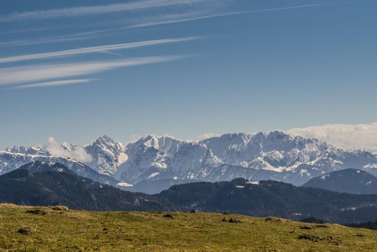 Der Blick auf das Kaisergebirge