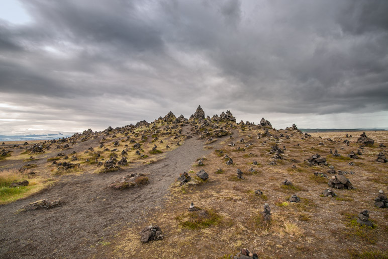 Der Lavahügel Laufskálavarða im Mýrdalssandur
