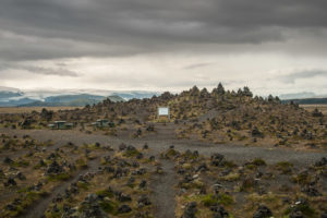 Im Hintergrund lauert die Katla - Laufskálavarða