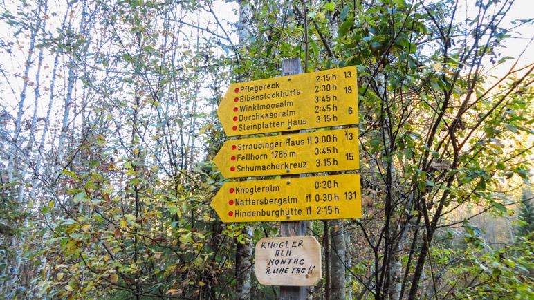 Wandermöglichkeiten gibt es hier genügend, heute wollen wir auf das Fellhorn