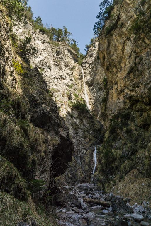 Der Wasserfall im Seitental