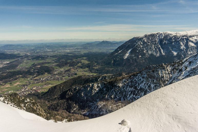 Ein Blick von der Schlegelmulde ins Salzburger Land