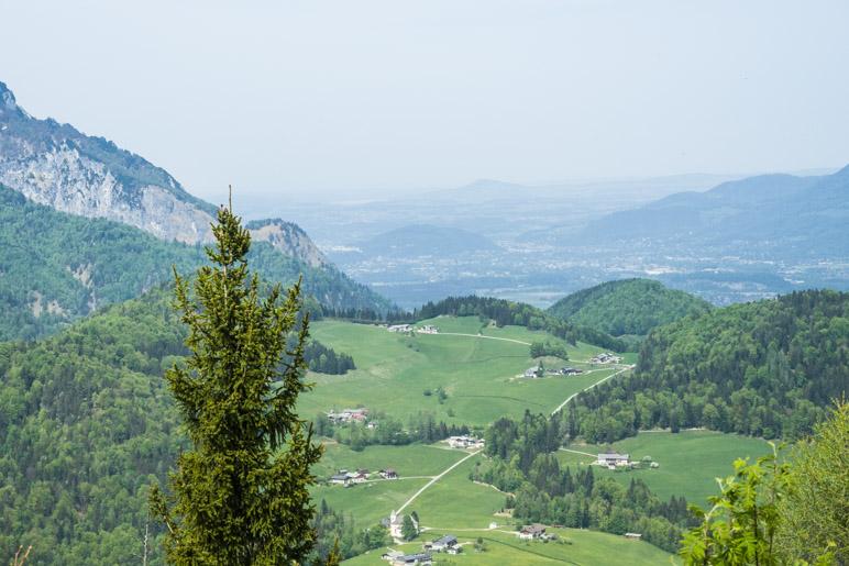 Der Salzburgblick ist heute ein wenig diesig