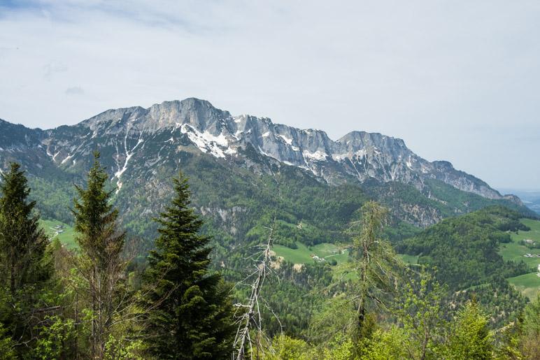 So sieht man den Untersberg vom Salzburgblick aus