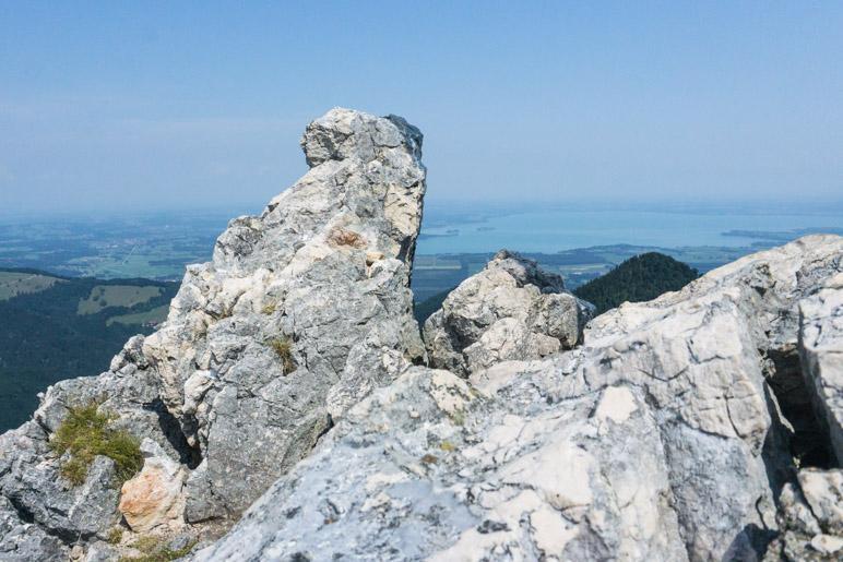 Blick vom Friedenrath auf den Chiemsee