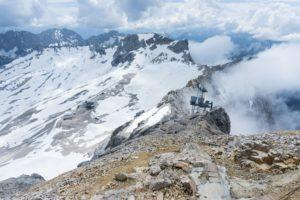 Hier endet der Aufstieg vom Zugspitzplatt zum Gipfelbereich