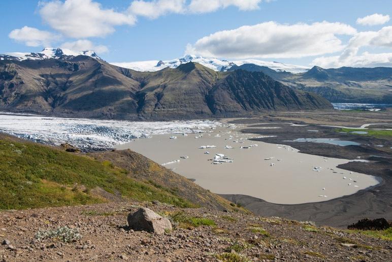 Ein letzter Blick zum Gletschersee des Skaftafellsjökull