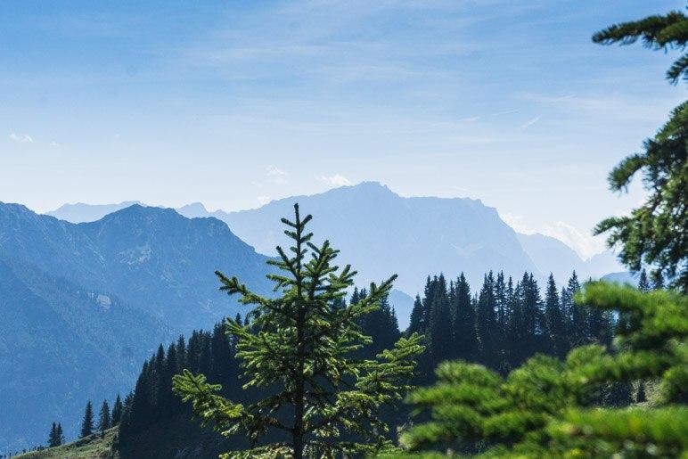 Ein Blick zur Zugspitze