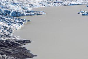 Das Ende der Gletscherzunge am See