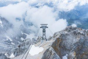 Stützpfeiler der Tiroler Zugspitzbahn