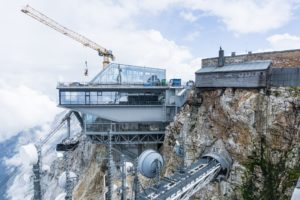Die Baustelle der neuen Zugspitz-Seilbahn