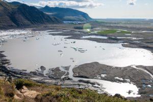 Der Skaftafellsjökull-Gletschersee und die Skeiðarársandur-Ebene
