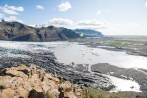 Der Gletschersee des Skaftafellsjökull