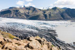 Das Ende der Gletscherzunge des Skaftafellsjökull