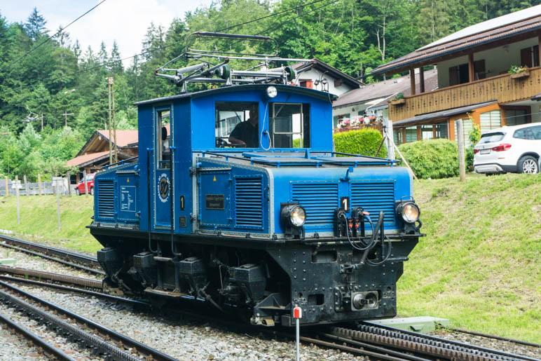 Die Tallokomotive der Zugspitzbahn