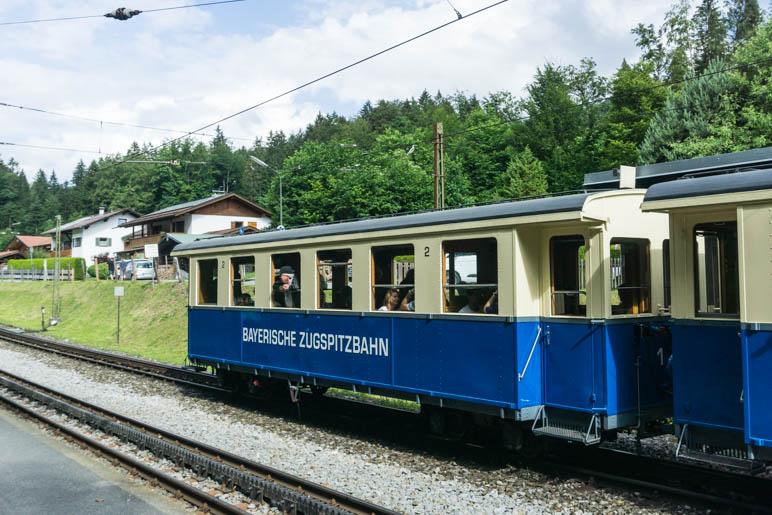 Eine Nostalgiefahrt mit der Zugspitzbahn