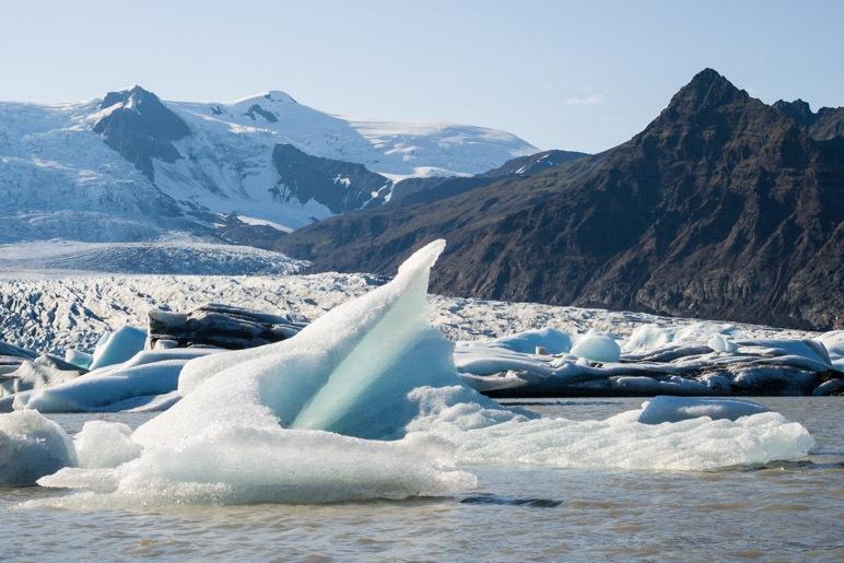Eine besonders bizarr geformte Eisscholle