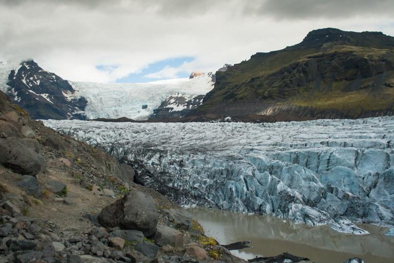 Der Svinafellsjökull im Skaftafell-Nationalpark