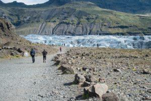 Auf dem Weg zum Svinafellsjökull