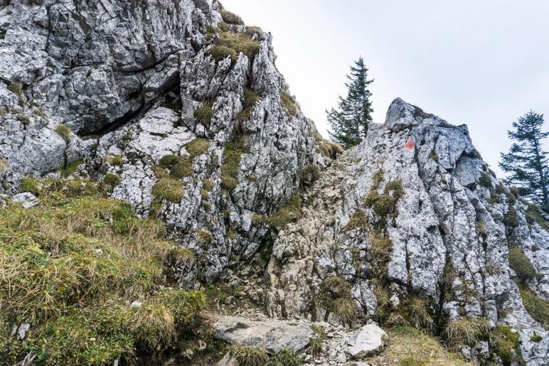 Eine weitere Felstufe vor dem Gipfel