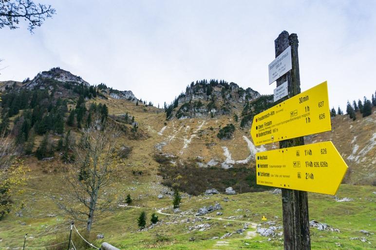 Eine Stunde geht man vom Bodenschneidhaus noch bis auf den Gipfel der Bodenschneid