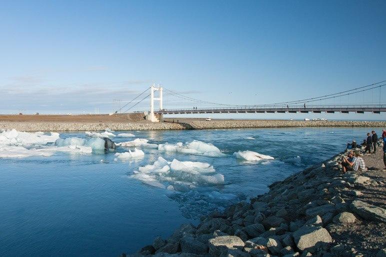 Die Brücke über den Jökulsá á Breiðamerkursandi