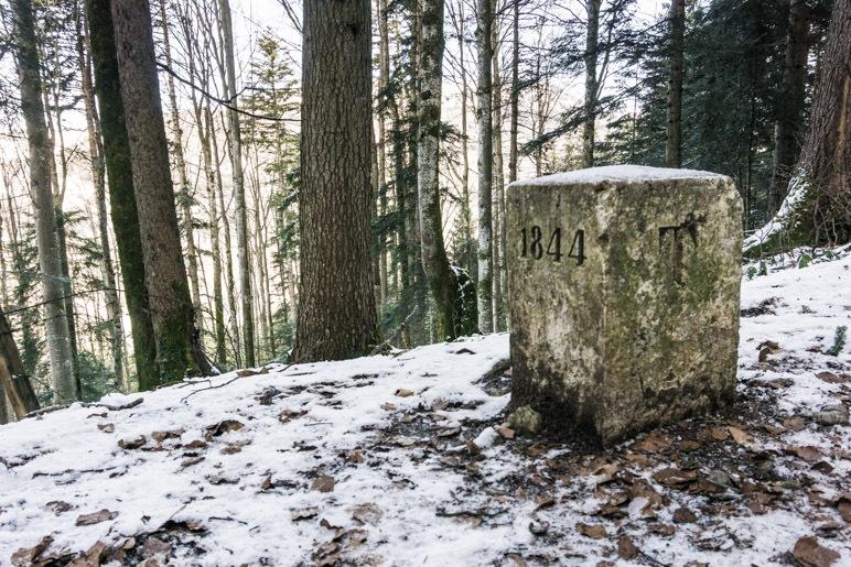 Ab jetzt wandern wir auf Tiroler Gebiet