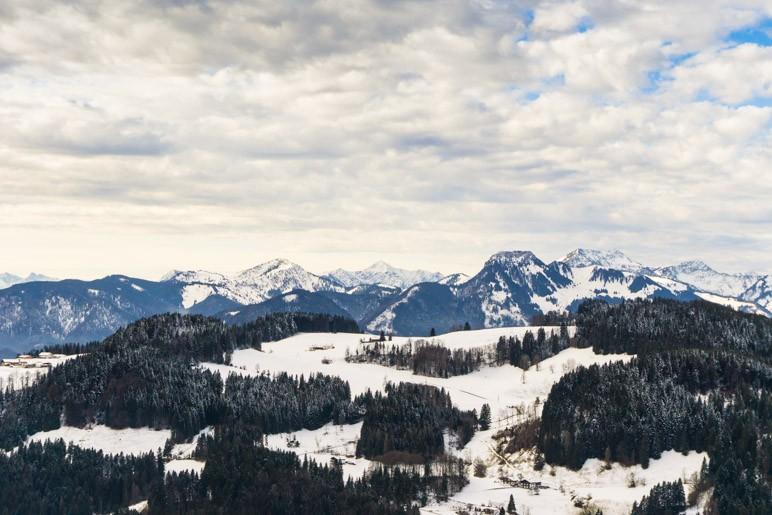 Der Blick nach Westen von der Wildbichl-Alm
