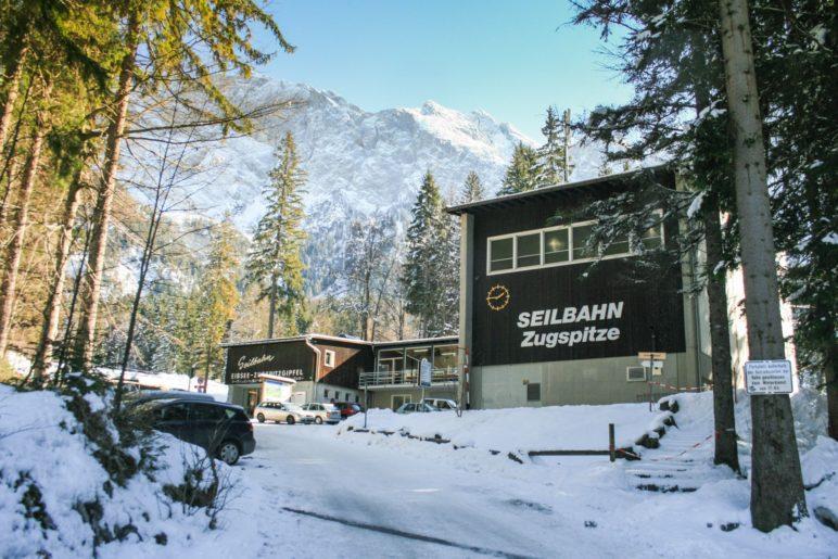 Die ehemalige Talstation der Zugspitz-Seilbahn