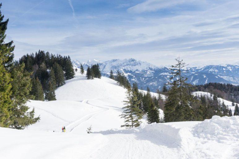 Robelbahn mit Blick auf das Kaisergebirge
