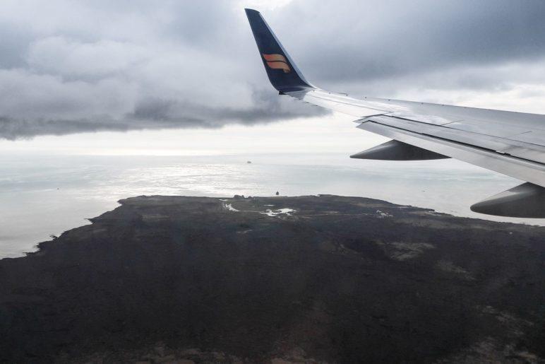 Anflug auf Island, irgendwo über der Halbinsel Reykjanes